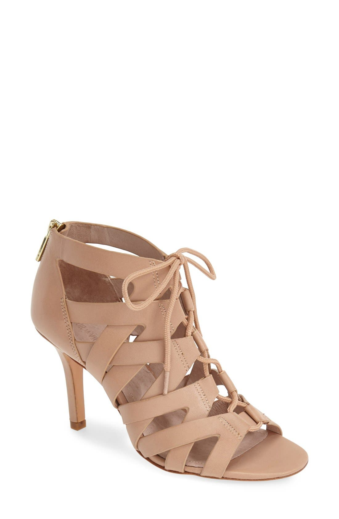 Alternate Image 1 Selected - Pour la Victoire 'Camila' Caged Leather Sandal (Women)