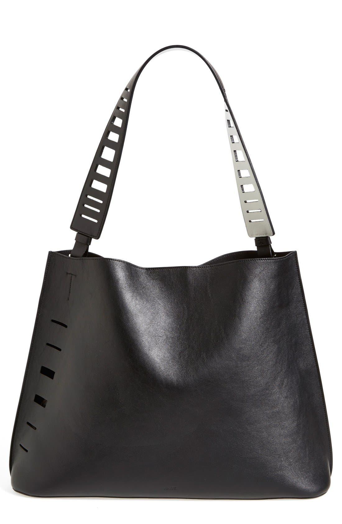 Alternate Image 1 Selected - Vince 'Medium' Cutout Leather Hobo