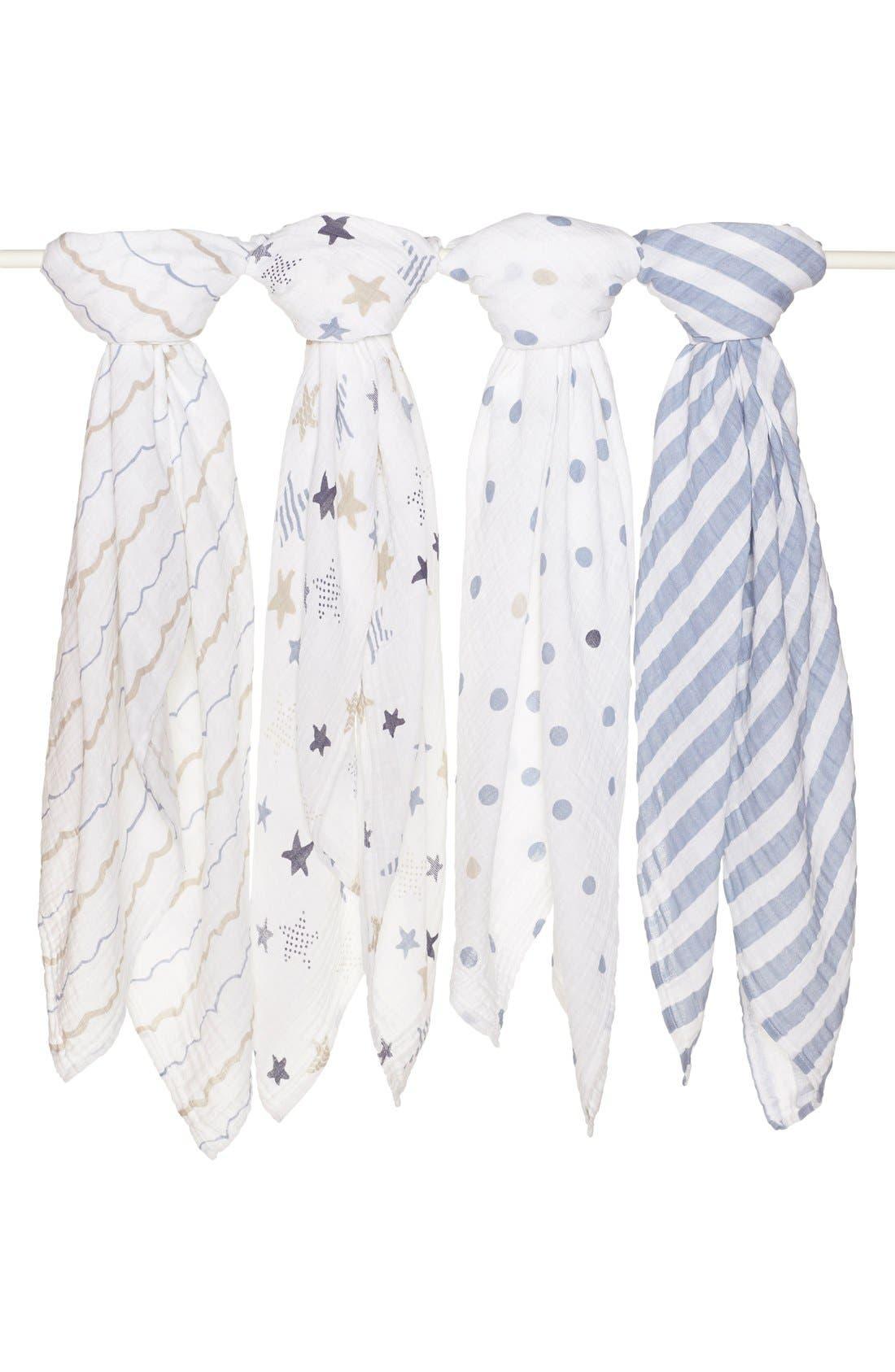 aden + anais Set of 4 Classic Swaddling Cloths