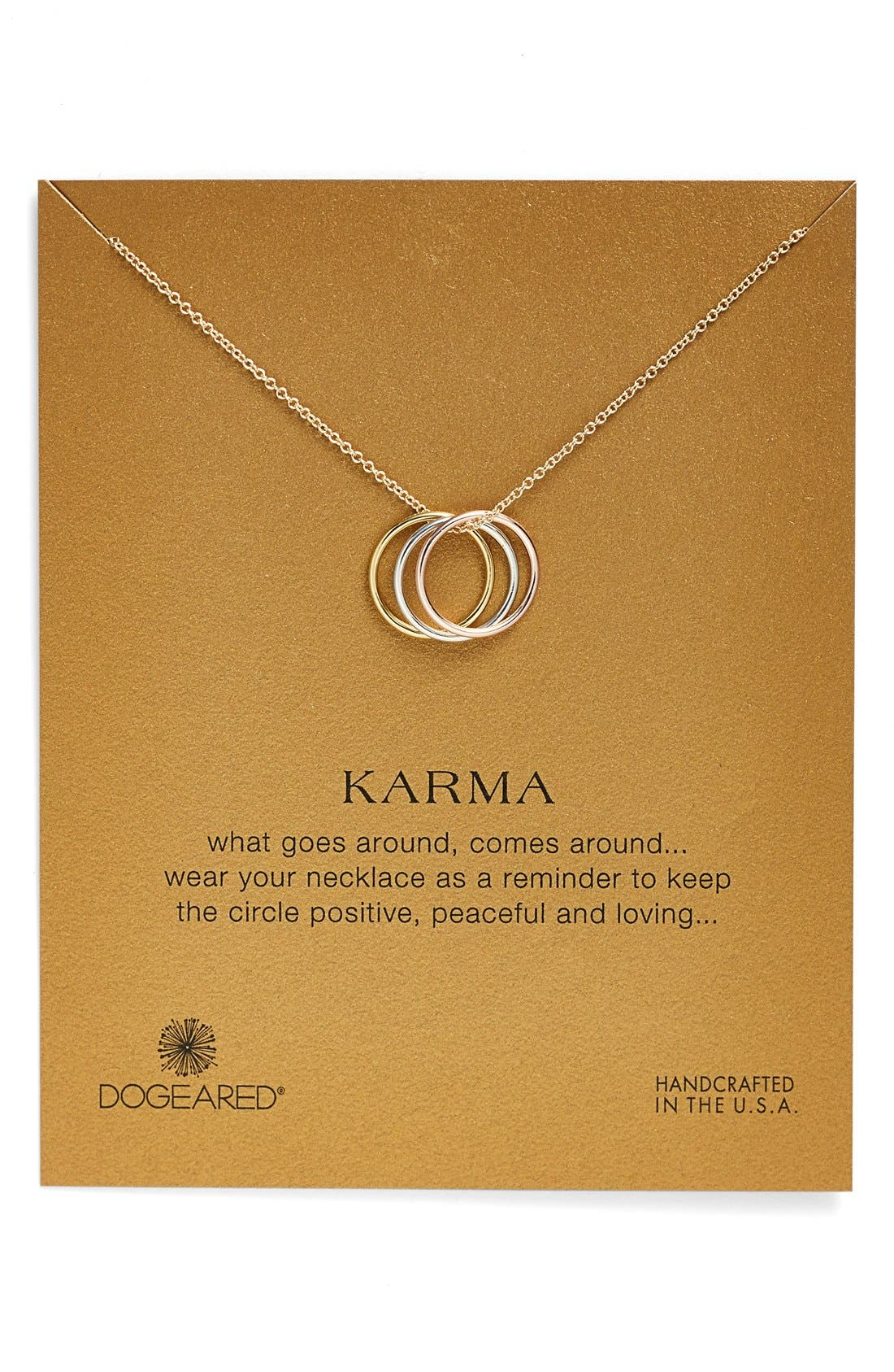 Alternate Image 1 Selected - Dogeared 'Karma' Charm Necklace
