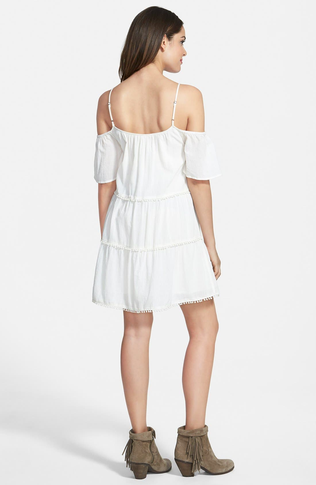 Alternate Image 2  - Sun & Shadow Cold Shoulder Dress (Juniors)