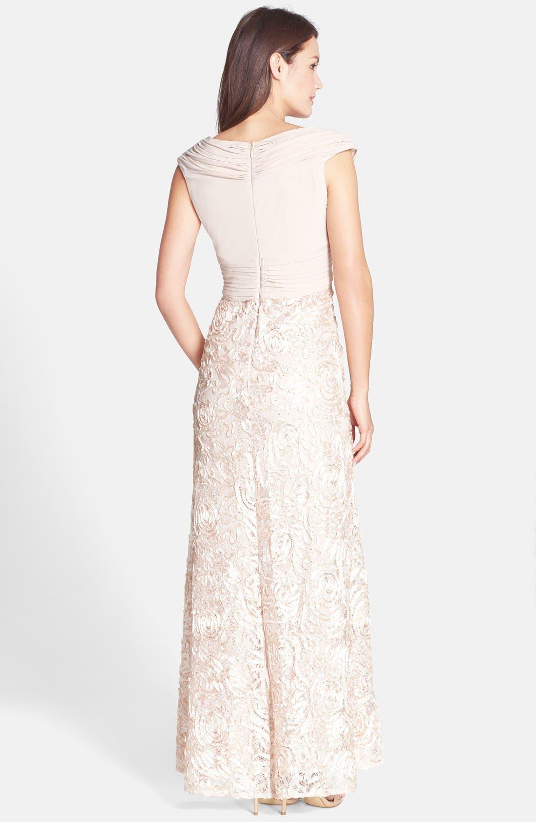 Alternate Image 2  - Patra Sequin Ribbon Soutache Gown
