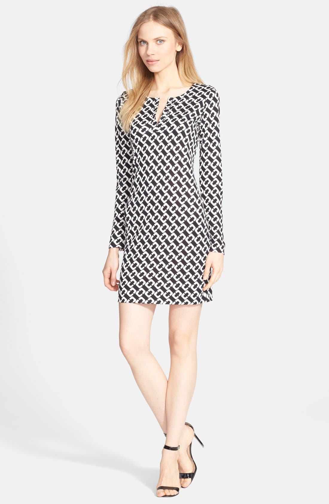 Alternate Image 1 Selected - Diane von Furstenberg 'Reina' Silk Shift Dress