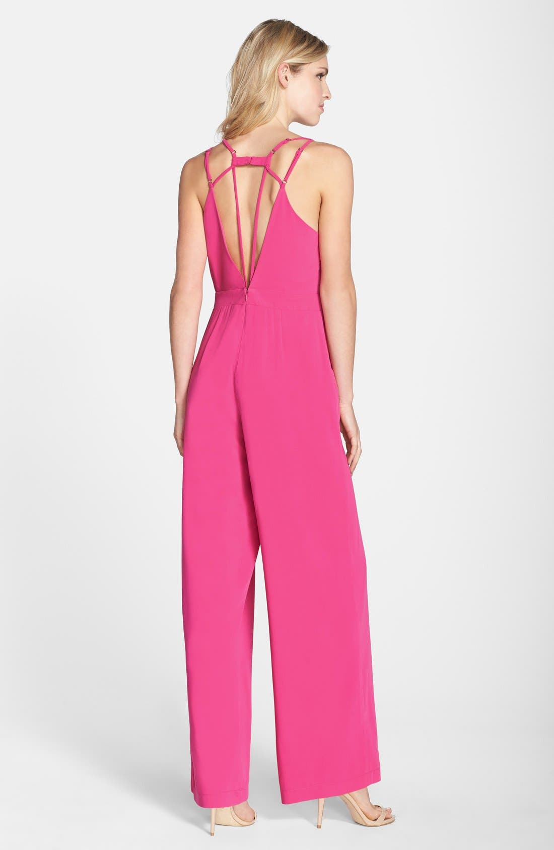 Alternate Image 2  - Adelyn Rae Strappy Wide Leg Jumpsuit