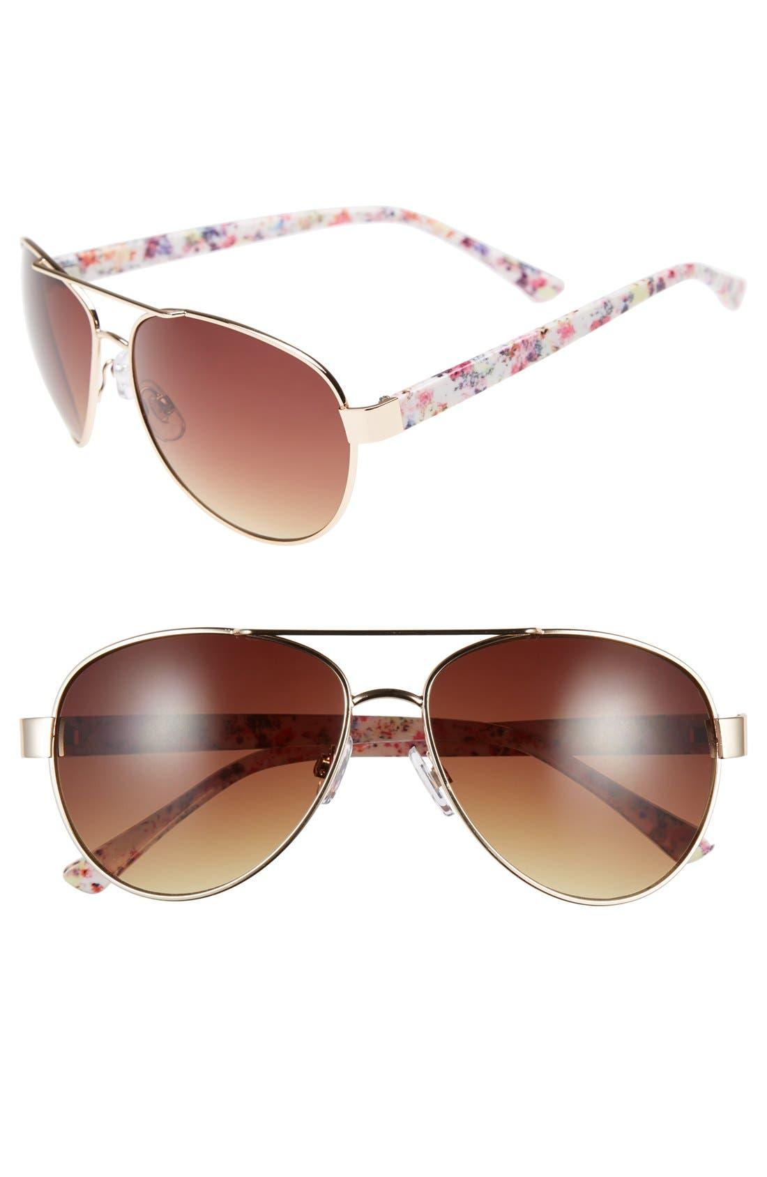 Main Image - BP. 60mm Ikat Print Aviator Sunglasses