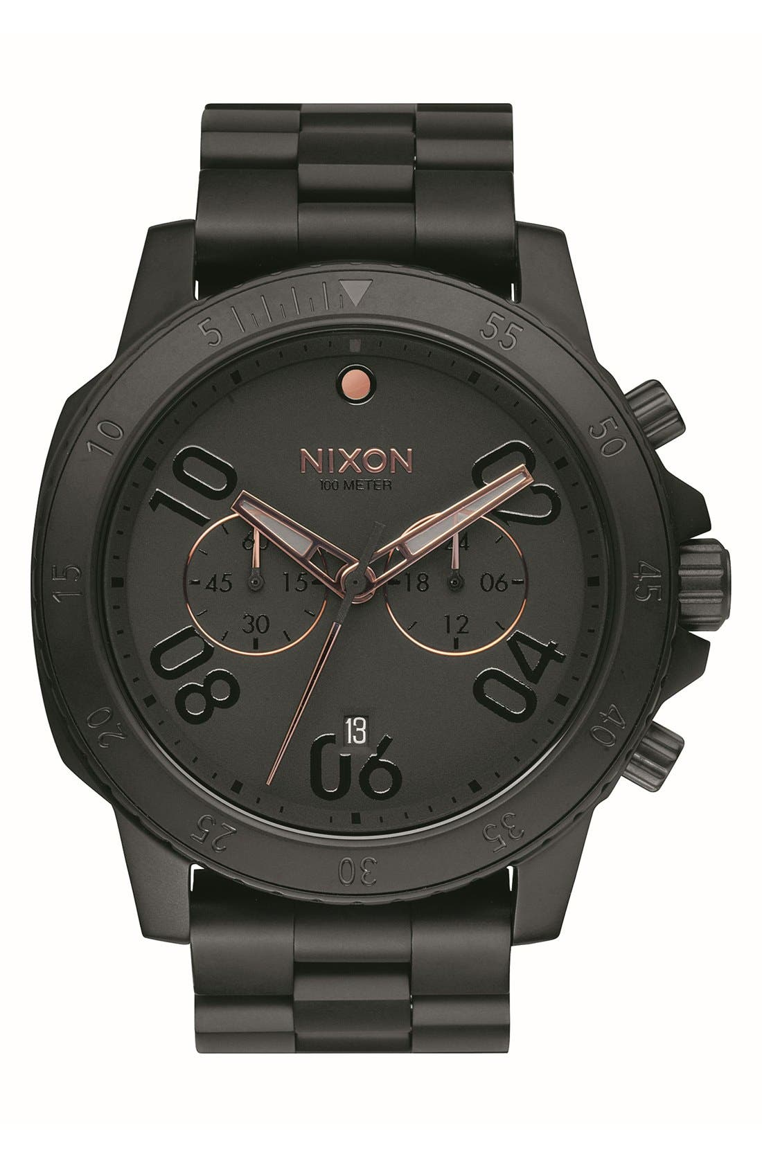 Main Image - Nixon 'Ranger' Chronograph Bracelet Watch, 44mm