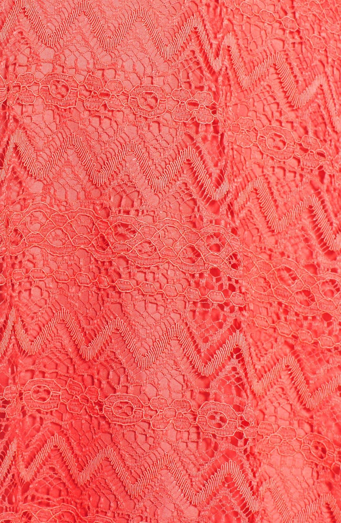 Alternate Image 4  - BB Dakota Zigzag Lace Fit & Flare Dress
