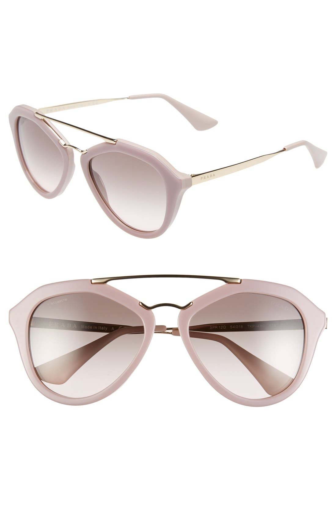 Alternate Image 1 Selected - Prada 54mm Gradient Lens Sunglasses