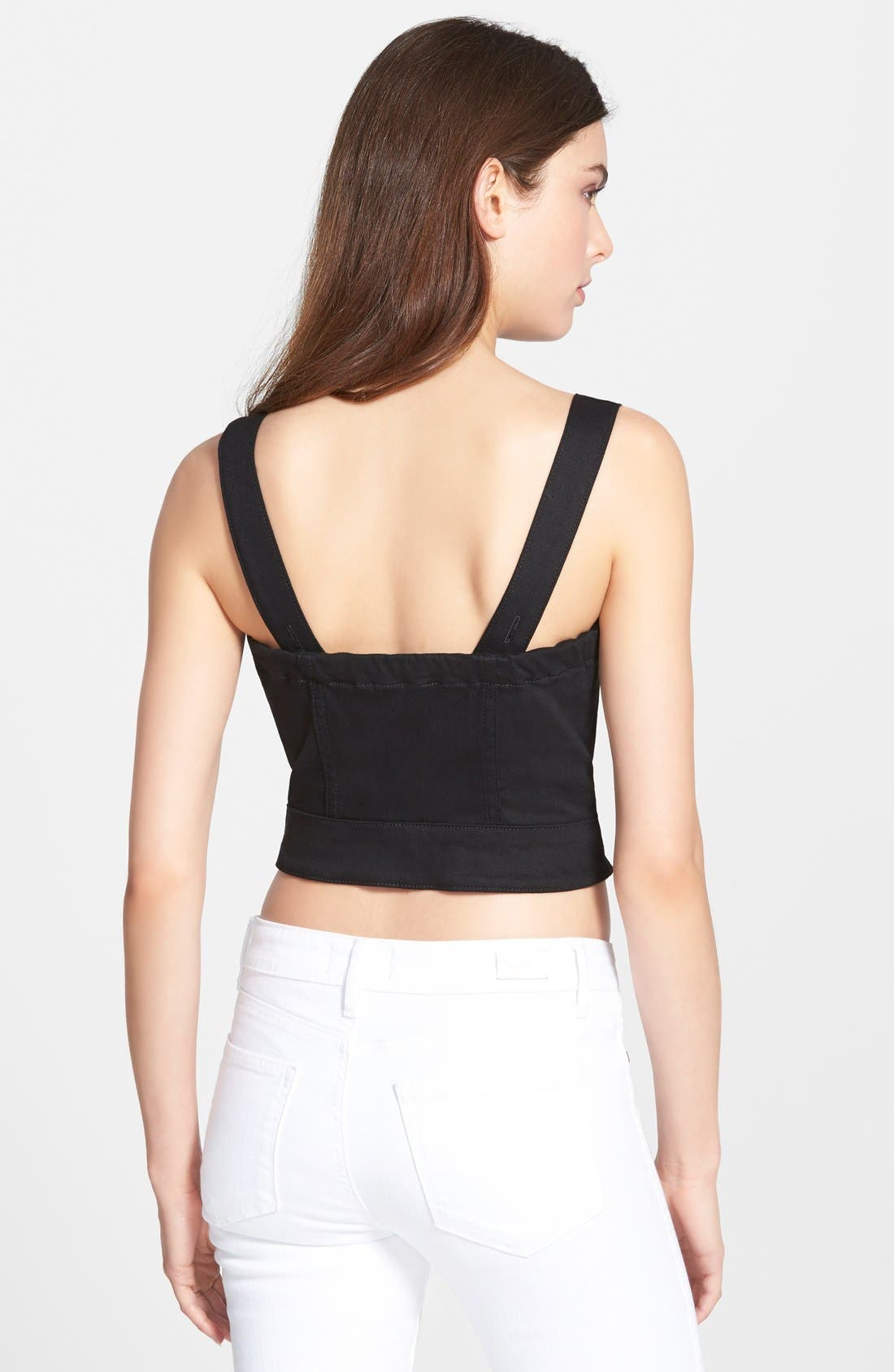Alternate Image 2  - 7 For All Mankind® Zip Front Crop Top