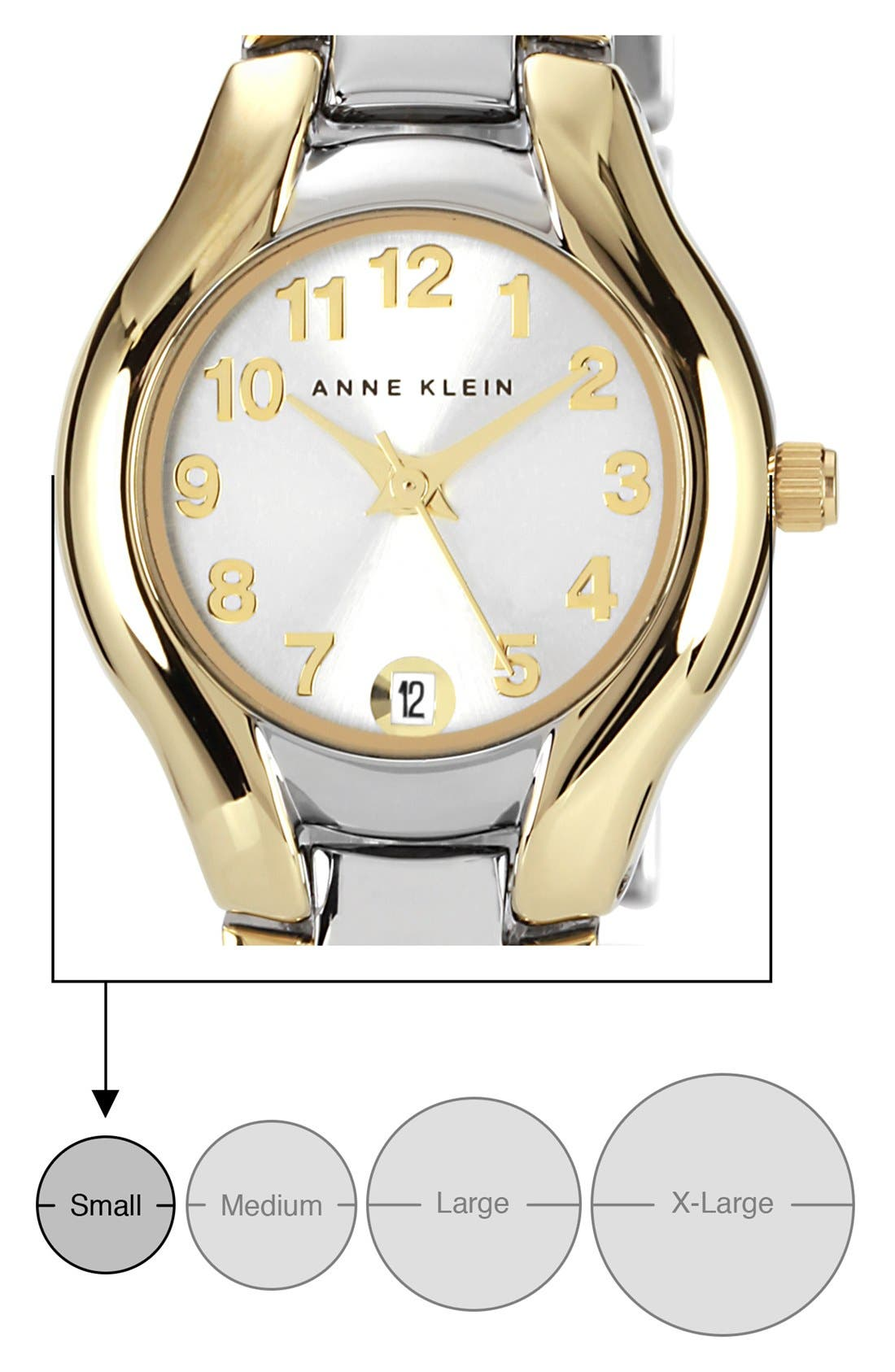 Alternate Image 4  - Anne Klein Two Tone Bracelet Watch, 22mm