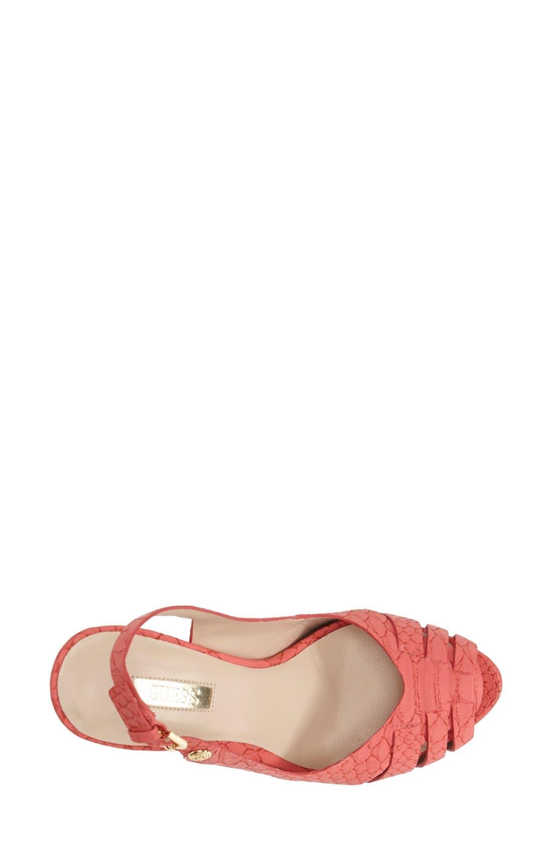Alternate Image 3  - GUESS 'Haben' Peep Toe Platform Sandal (Women)