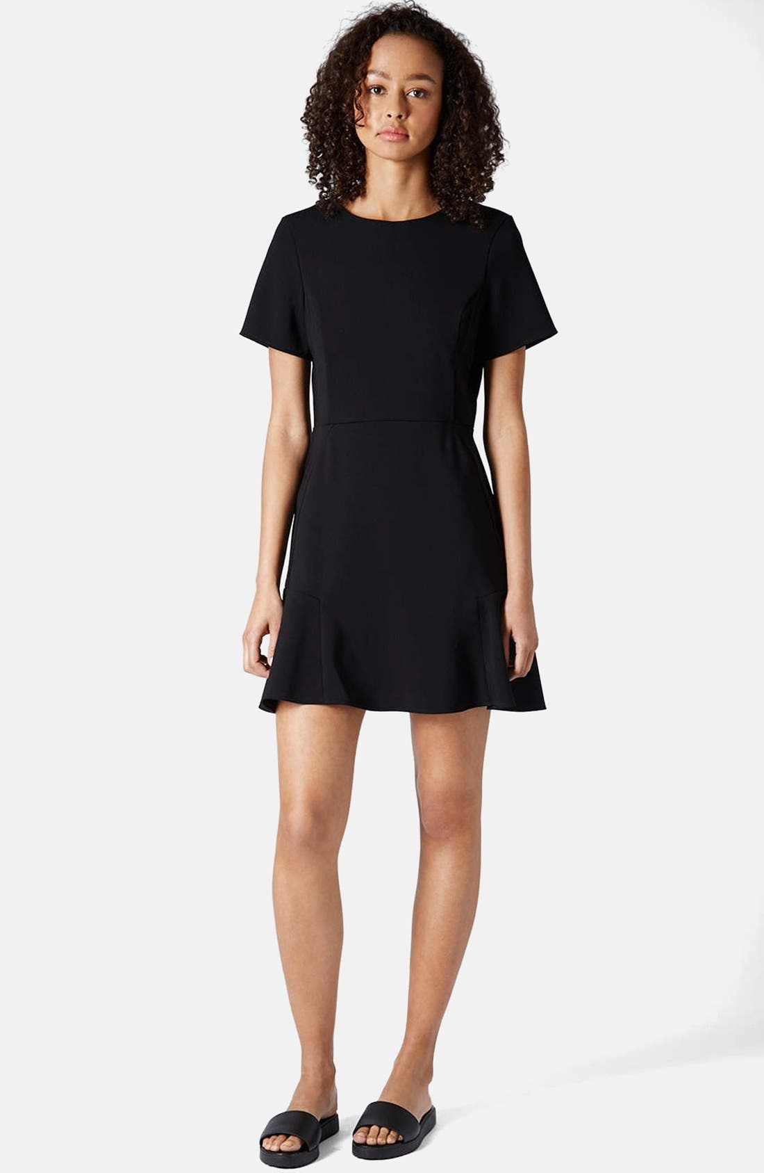Alternate Image 3  - Topshop Flared Crepe Dress
