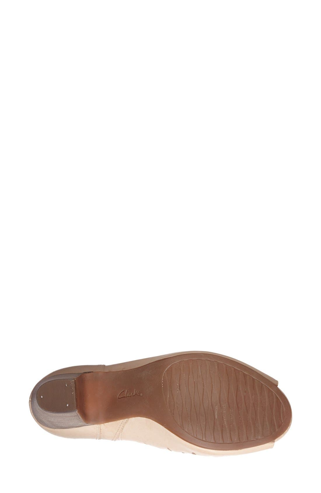Alternate Image 4  - Clarks® 'Okena Posh' Peep-Toe Leather Sandal (Women)
