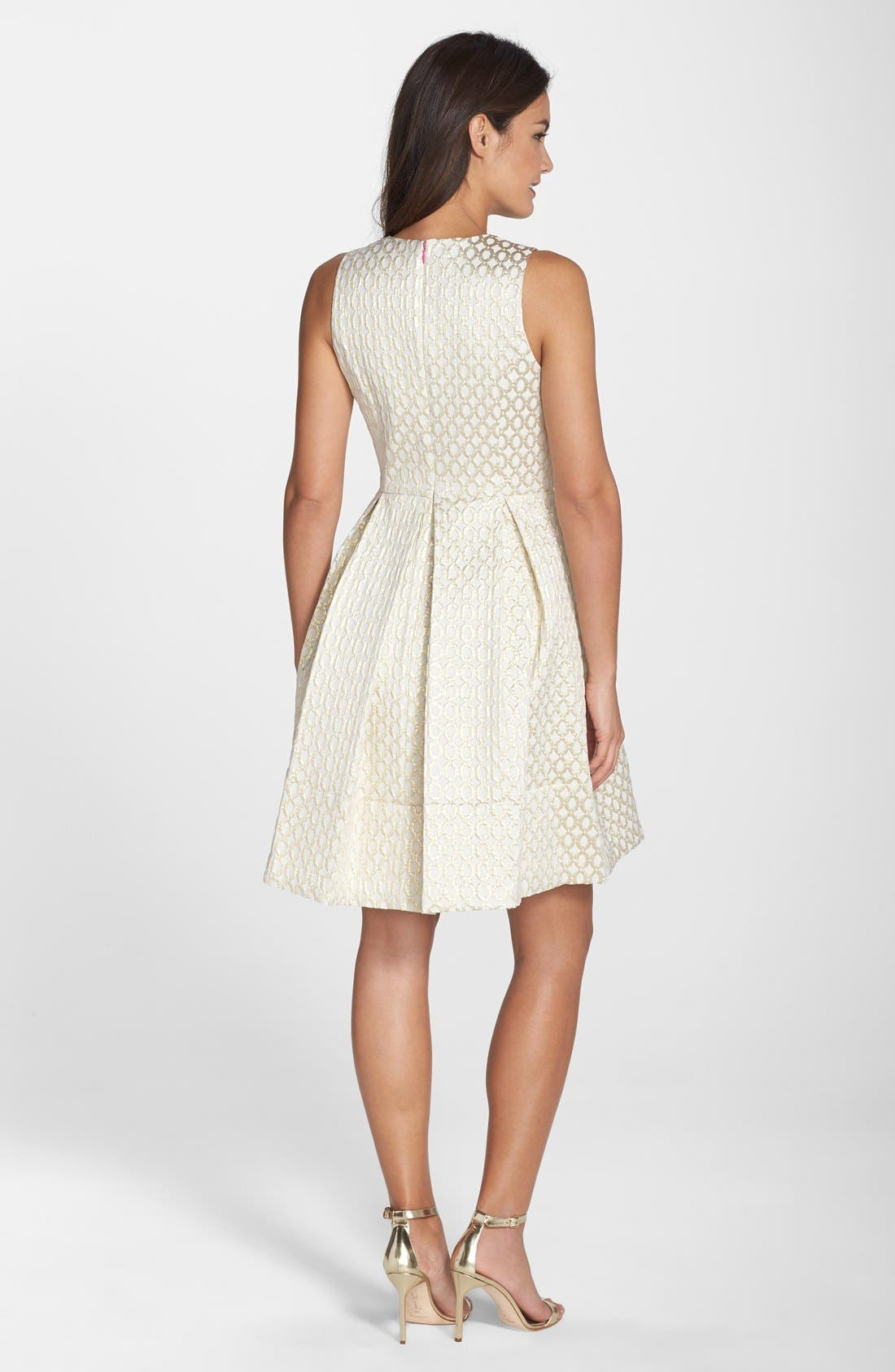 Alternate Image 2  - Eliza J Jacquard Fit & Flare Dress (Regular & Petite)