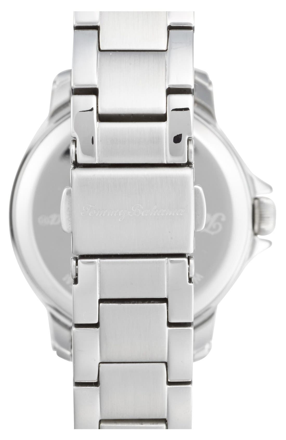 Alternate Image 2  - Tommy Bahama 'Island Breeze' Crystal Bezel Bracelet Watch, 33mm