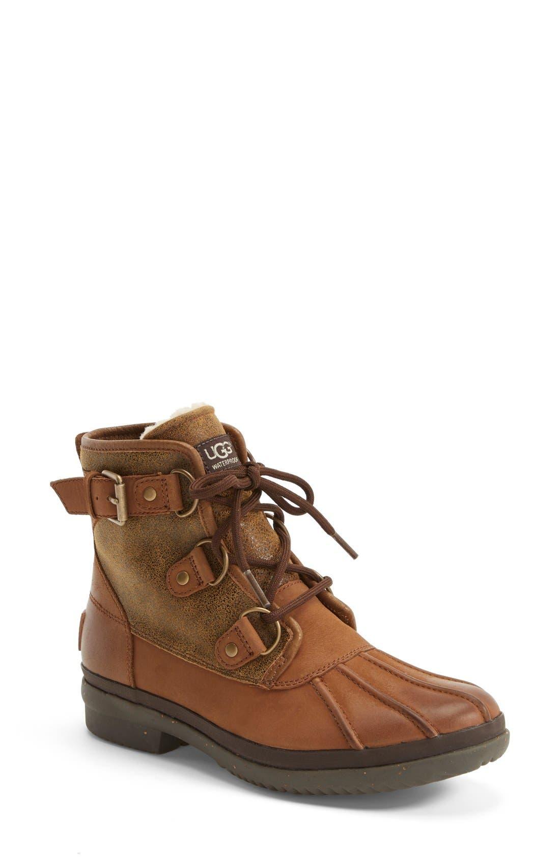 Alternate Image 1 Selected - UGG® Cecile Waterproof Boot (Women)