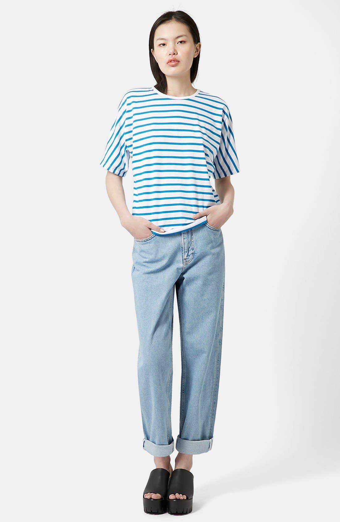 Alternate Image 4  - Topshop Boutique Seamless Stripe Tee