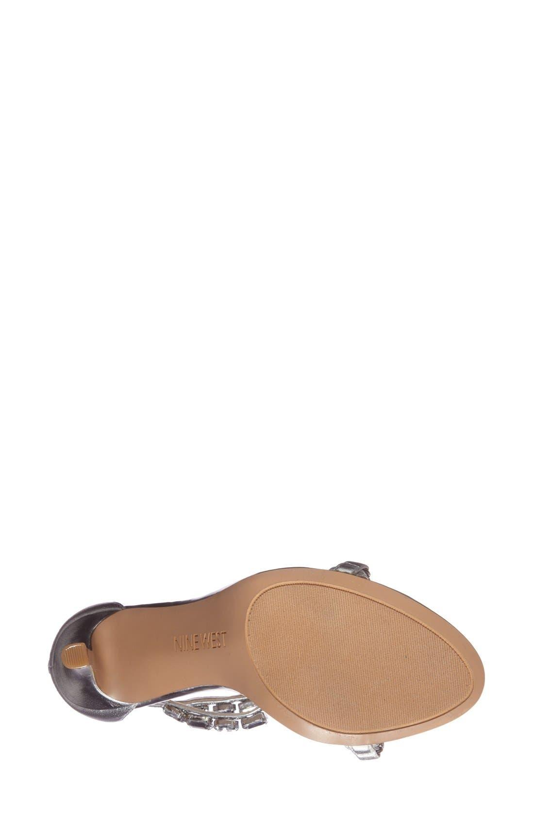 Alternate Image 4  - Nine West 'Fresh' Crystal T-Strap Sandal (Women)