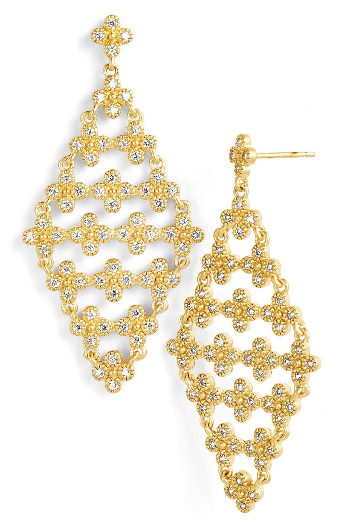 Alternate Image 1 Selected - FREIDA ROTHMAN 'Metropolitan' Floral Drop Earrings