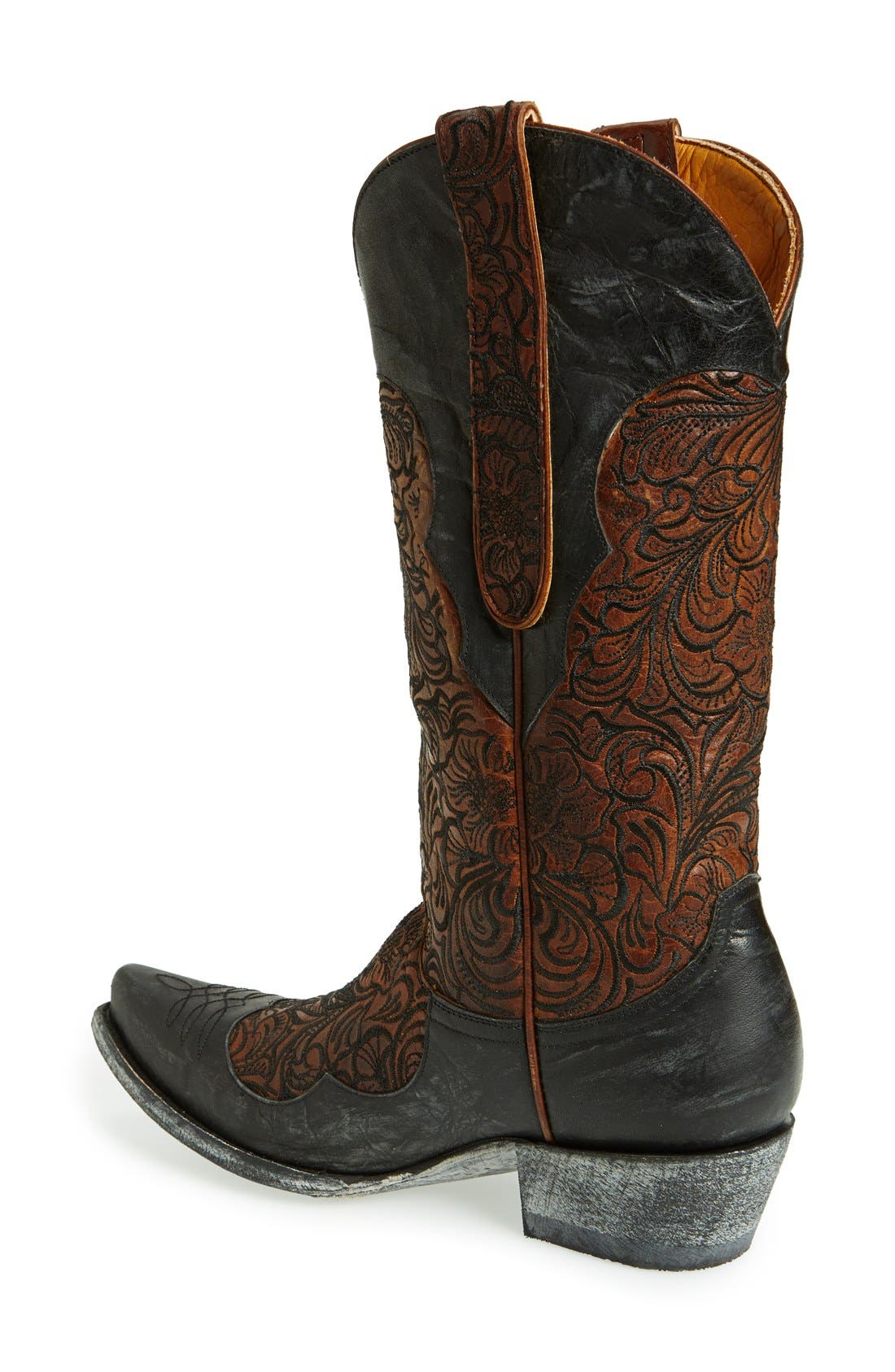Alternate Image 2  - Old Gringo 'Feita' Floral Embroidered Leather Boot (Women)