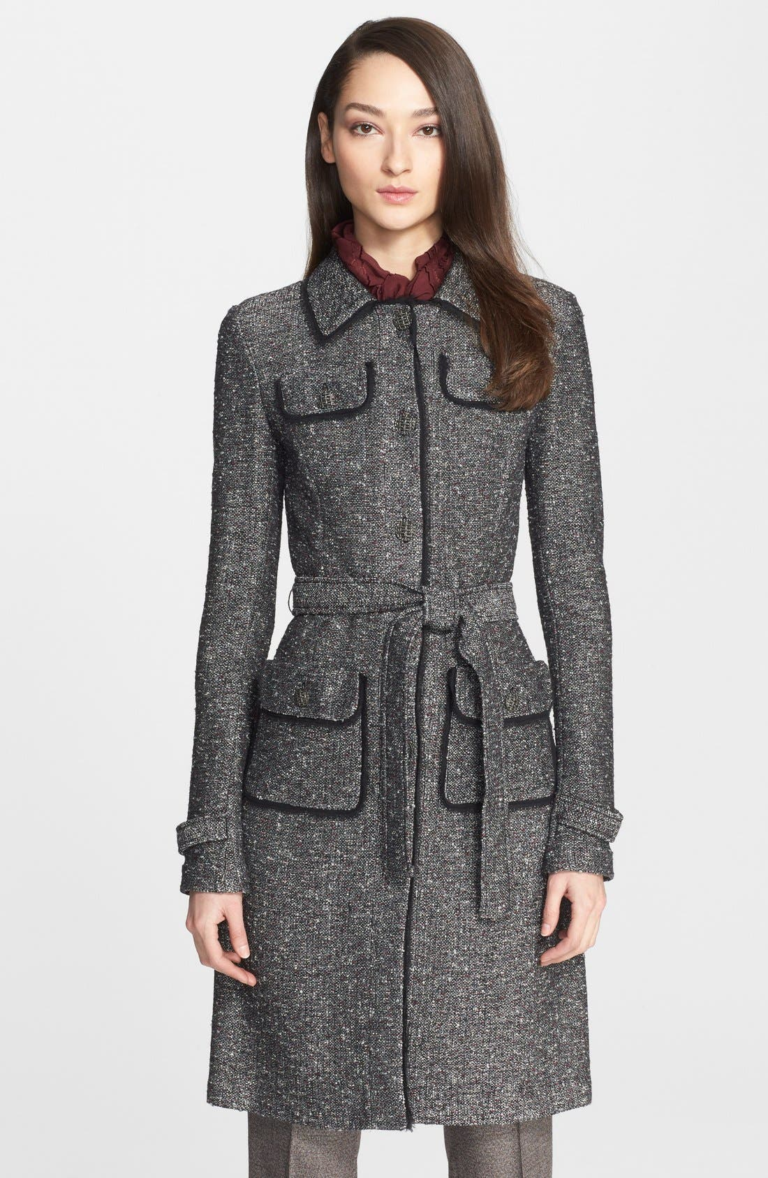 Main Image - St. John Collection Flecked Tweed Knit Topper