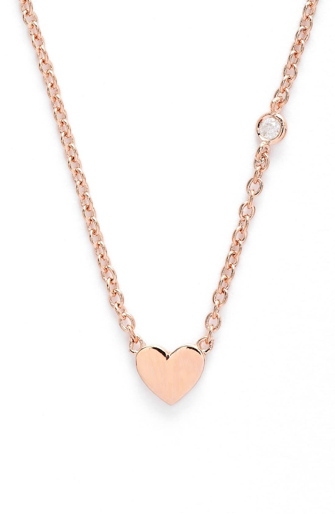 Main Image - Shy by SE Heart Necklace