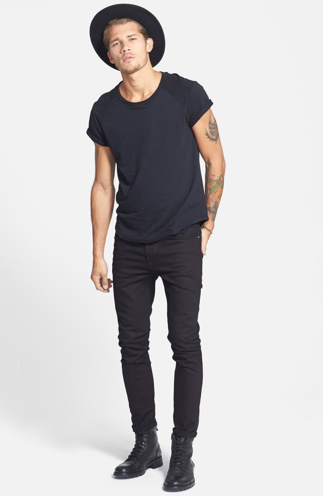 Alternate Image 5  - Nudie Jeans 'Thin Finn' Skinny Fit Jeans (Black Ring)