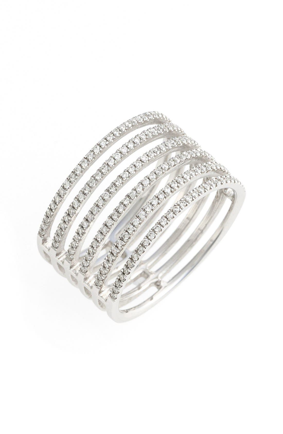 Alternate Image 1 Selected - Bony Levy 'Prism' Six-Row Diamond Ring (Nordstrom Exclusive)
