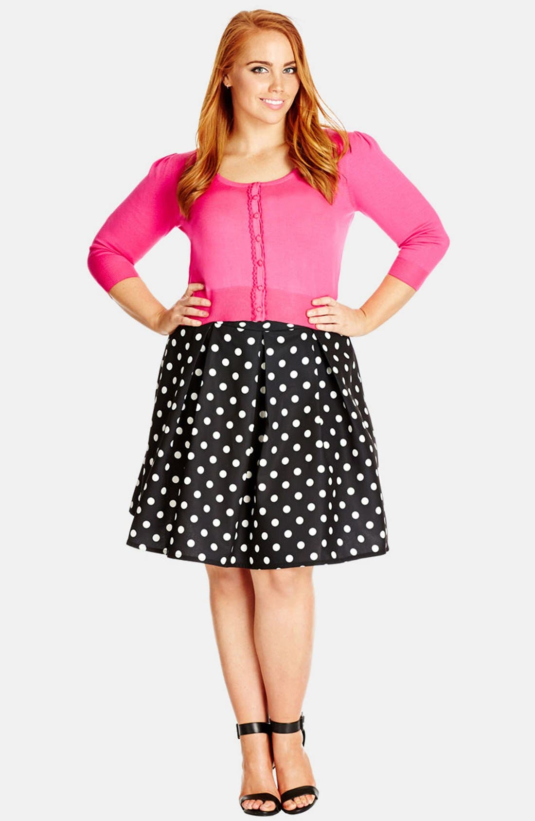 Alternate Image 3  - City Chic 'Candy' Full Skirt (Plus Size)