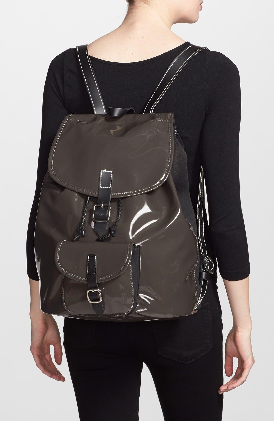 Alternate Image 2  - Harper Ave 'Philip' Neoprene & Faux Patent Leather Backpack