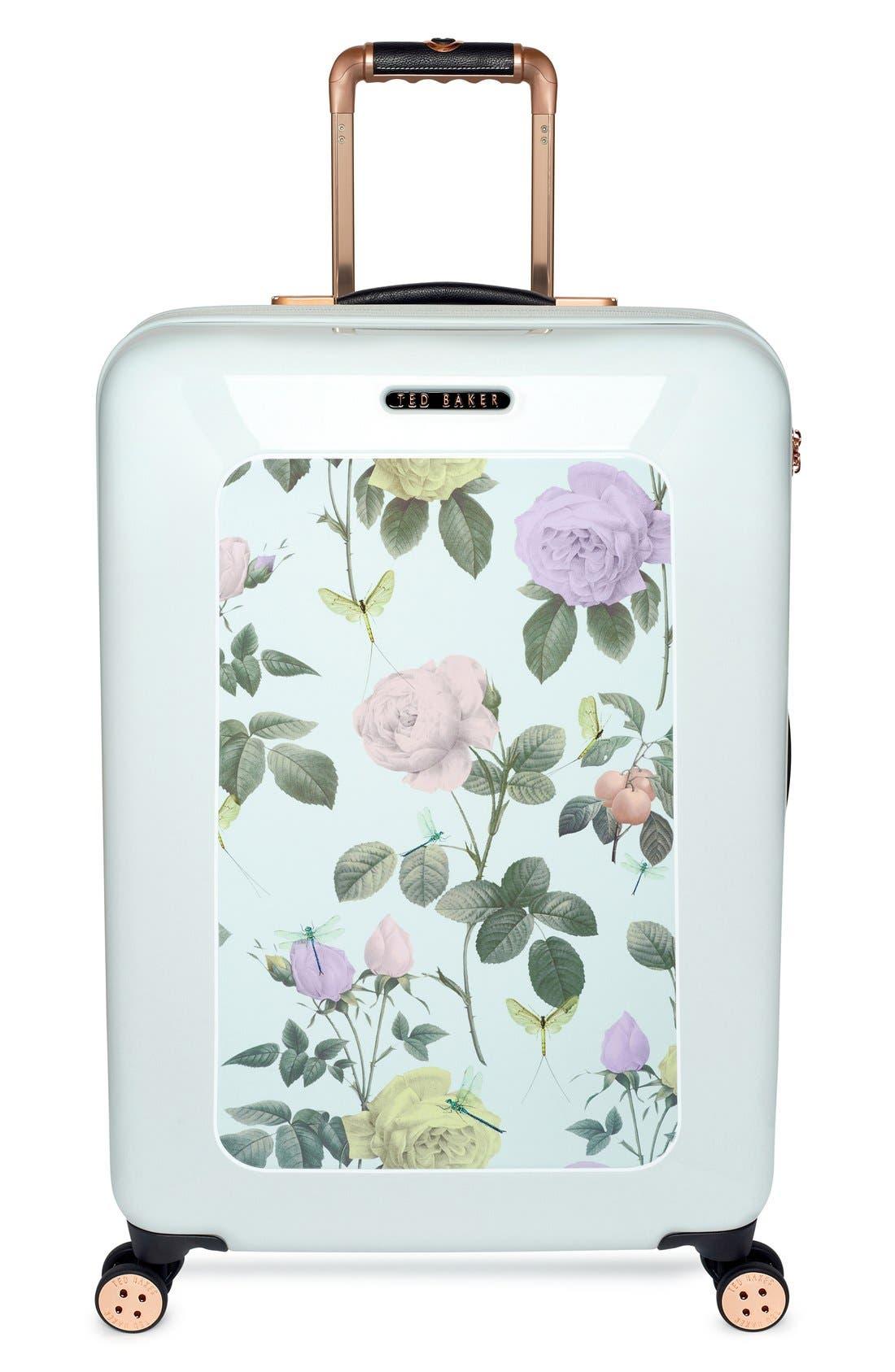 Main Image - Ted Baker London 'Medium Rose' Hard Shell Suitcase (28 Inch)