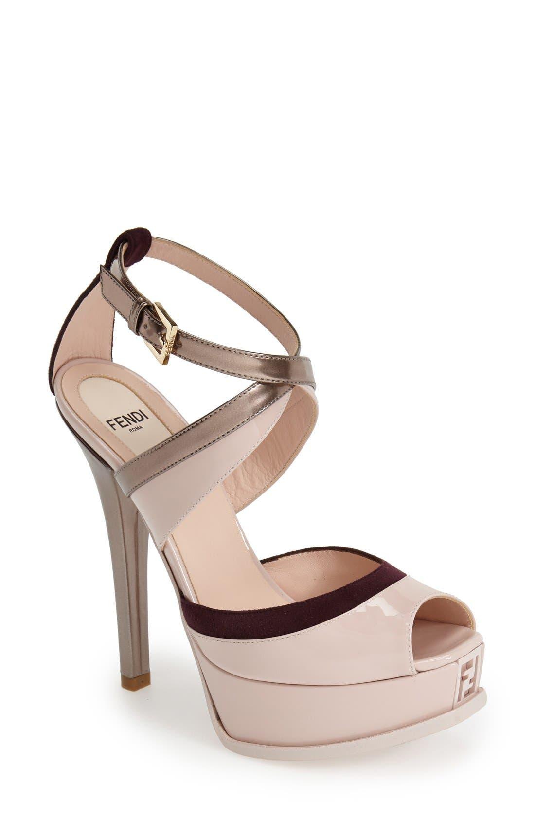 Alternate Image 1 Selected - Fendi 'Fendista' Platform Sandal (Women)
