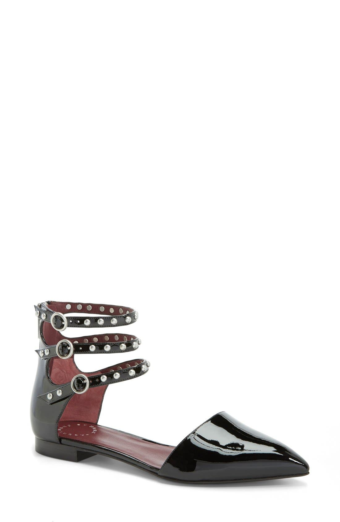 Alternate Image 1 Selected - MARC BY MARC JACOBS 'Minetta' Ankle Strap Flat (Women)