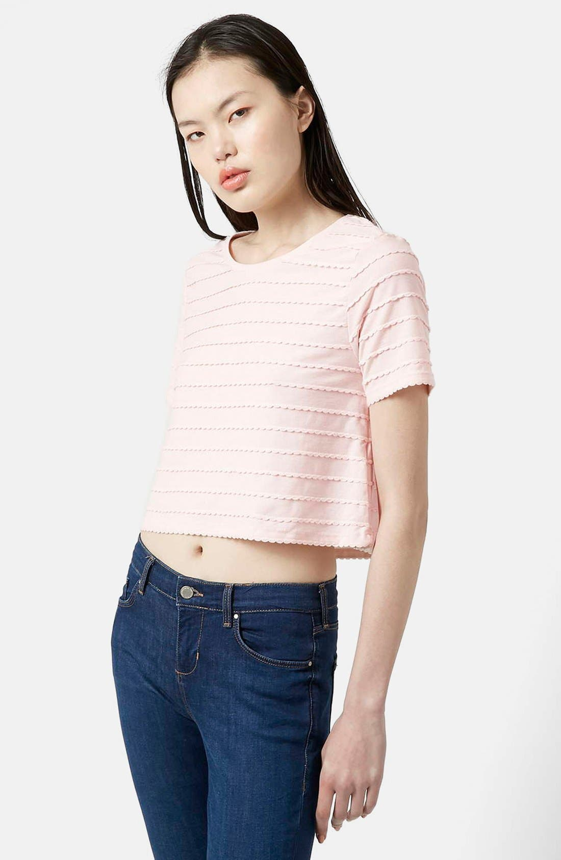 Alternate Image 1 Selected - Topshop Mini Scallop Tee