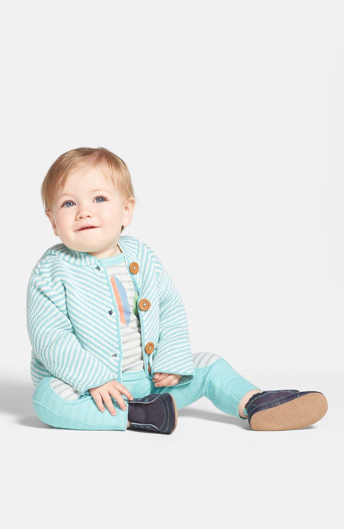 Alternate Image 2  - Stem Baby Organic Cotton Hooded Cardigan (Baby Boys)