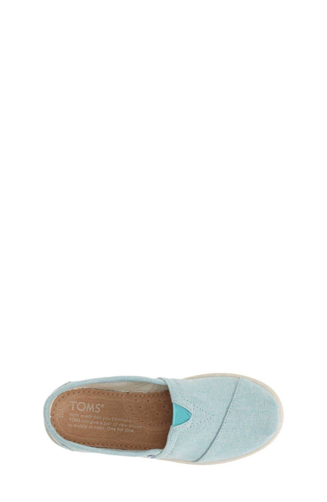 Alternate Image 3  - TOMS 'Classic Youth - Chambray' Slip-On (Toddler, Little Kid & Big Kid)
