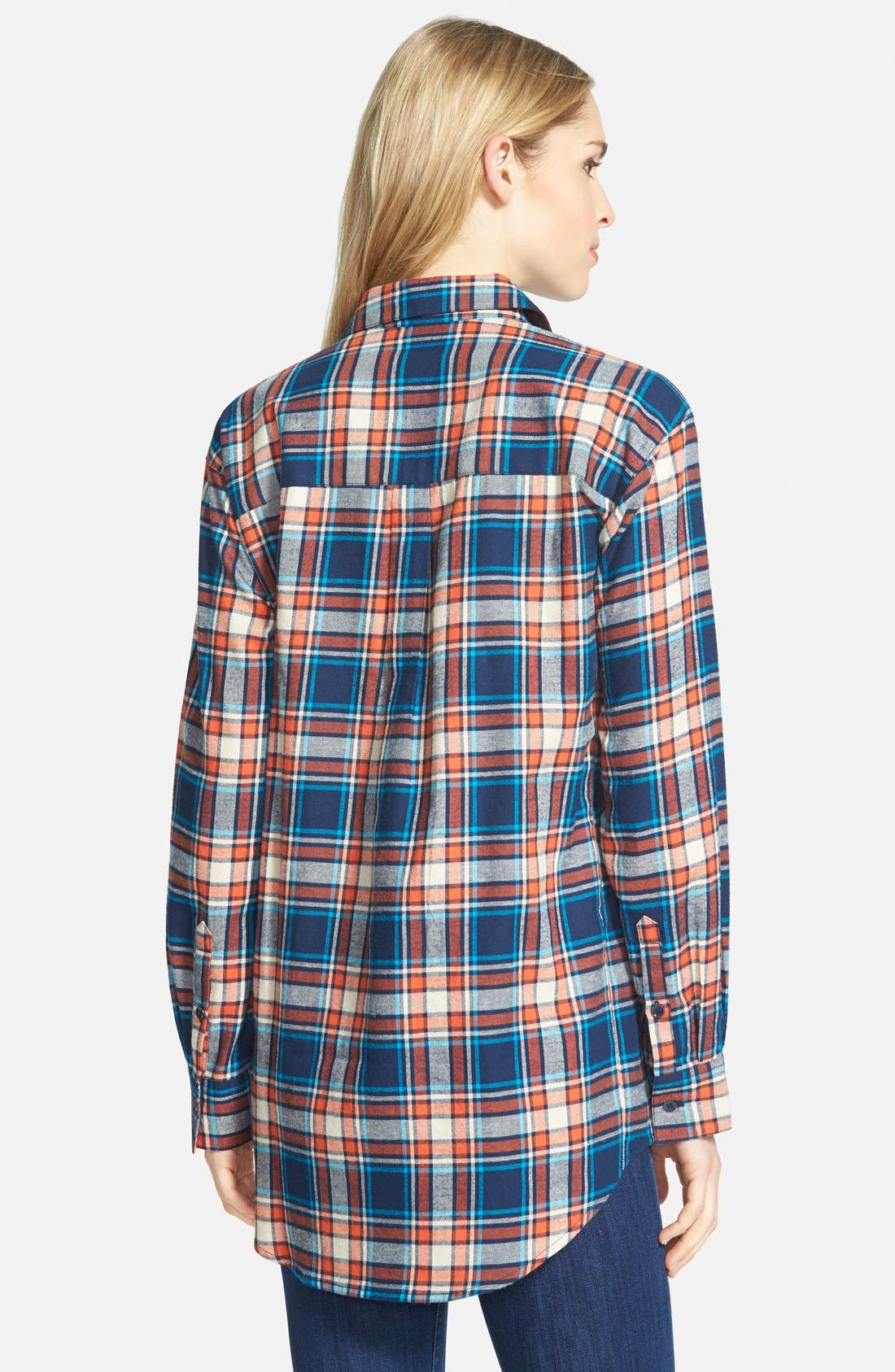 Alternate Image 2  - Sandra Plaid Cotton Flannel Boyfriend Shirt
