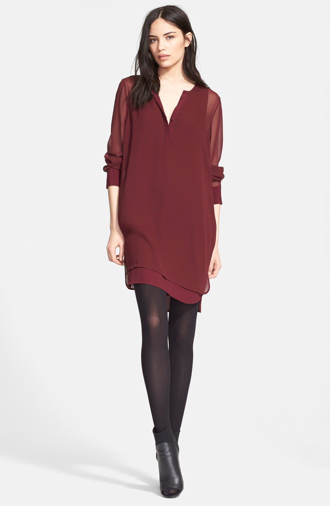 Alternate Image 4  - Vince Double Layer Shirtdress
