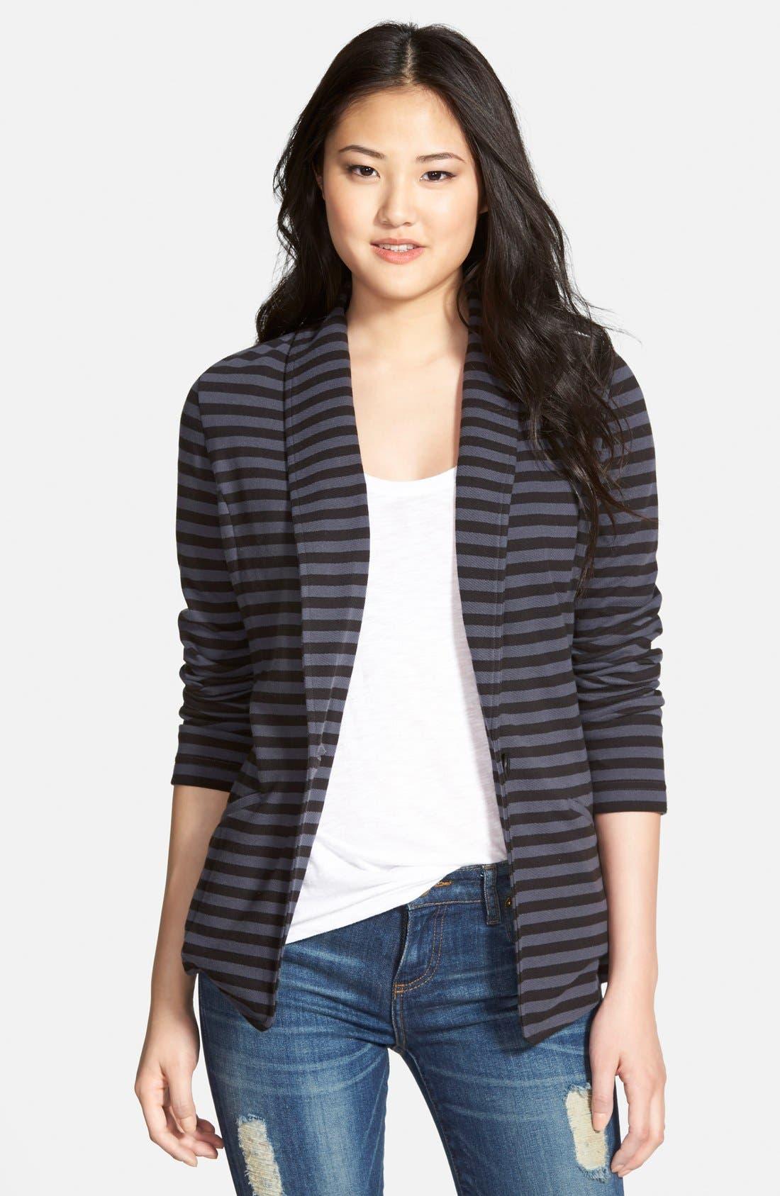 Alternate Image 1 Selected - Caslon® Shawl Collar Knit Blazer (Regular & Petite)