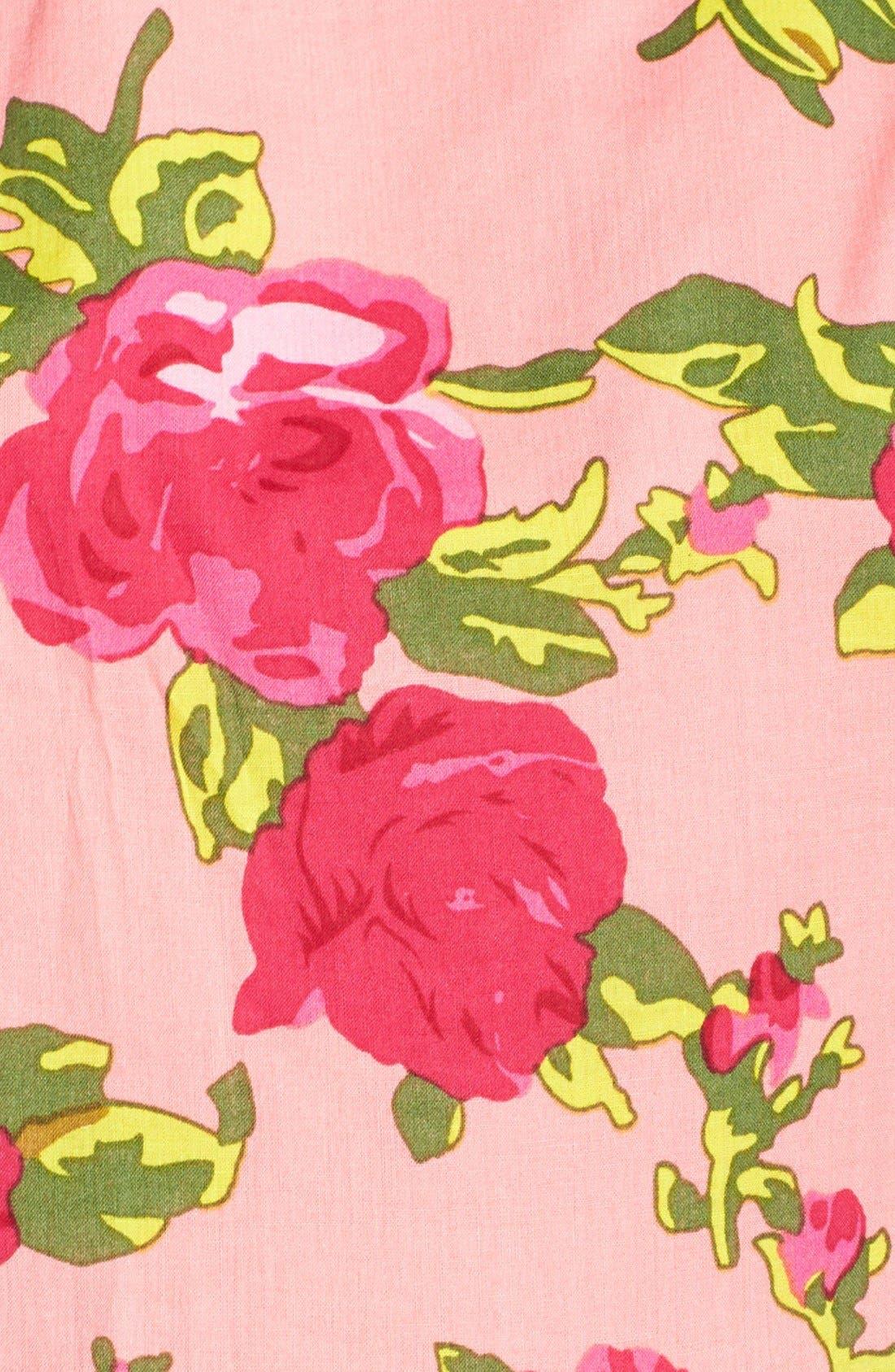 Alternate Image 3  - Betsey Johnson Floral Print Cotton Fit & Flare Dress