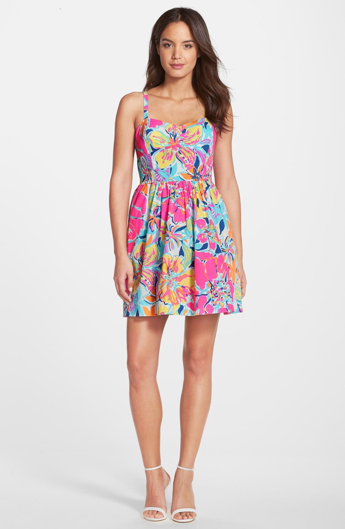 Alternate Image 3  - Lilly Pulitzer® 'Christine' Print Poplin Fit & Flare Dress
