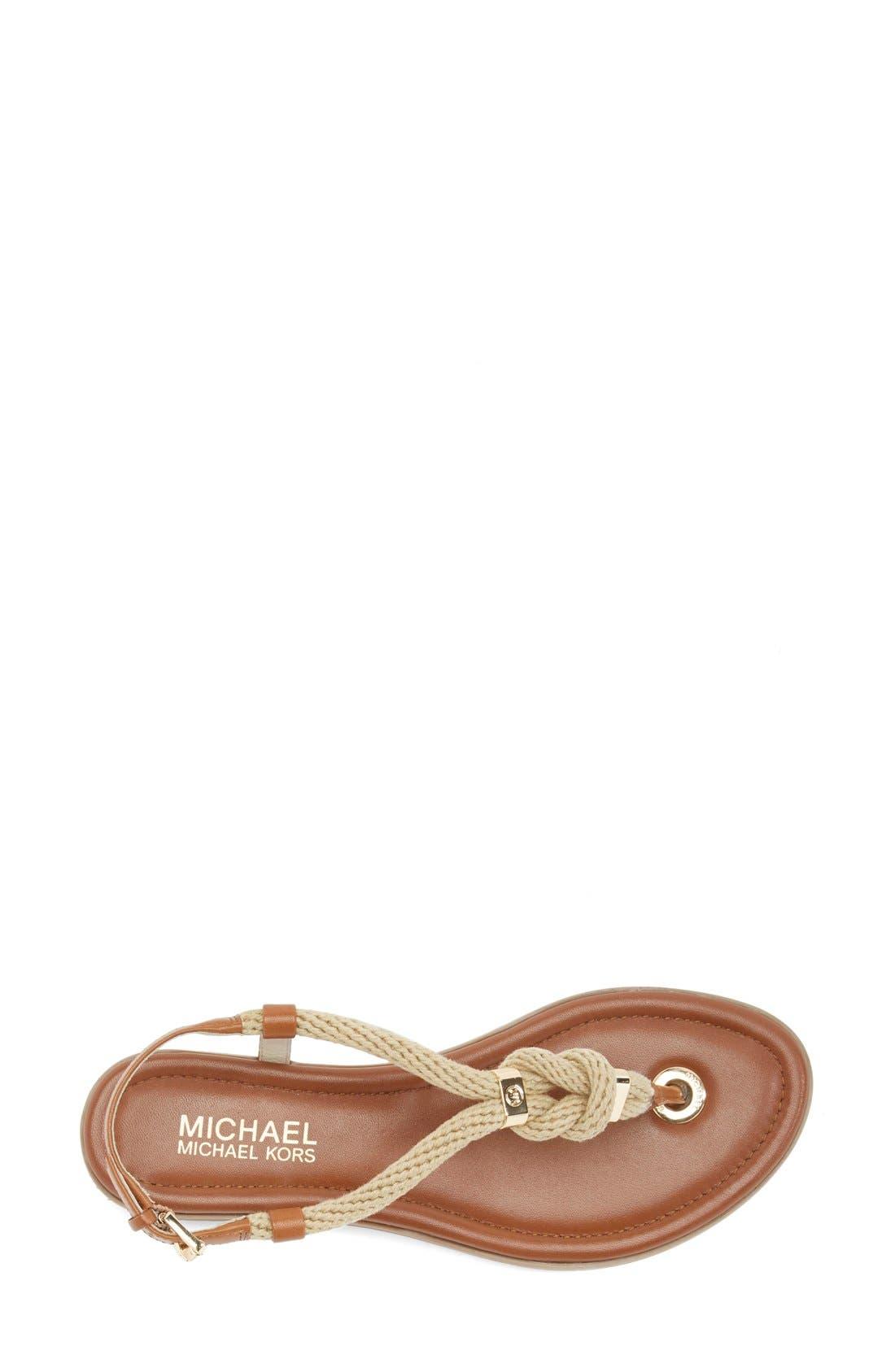Alternate Image 3  - MICHAEL Michael Kors 'Holly' Leather Thong Sandal (Women)