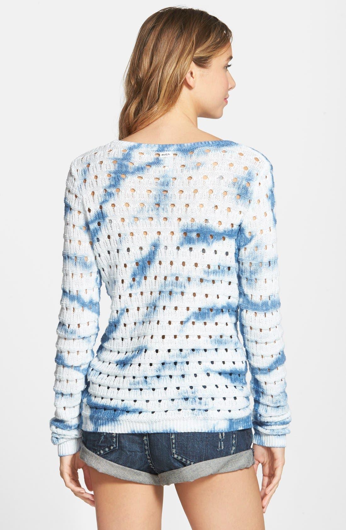 Alternate Image 2  - RVCA 'Breezy' Open Knit Sweater