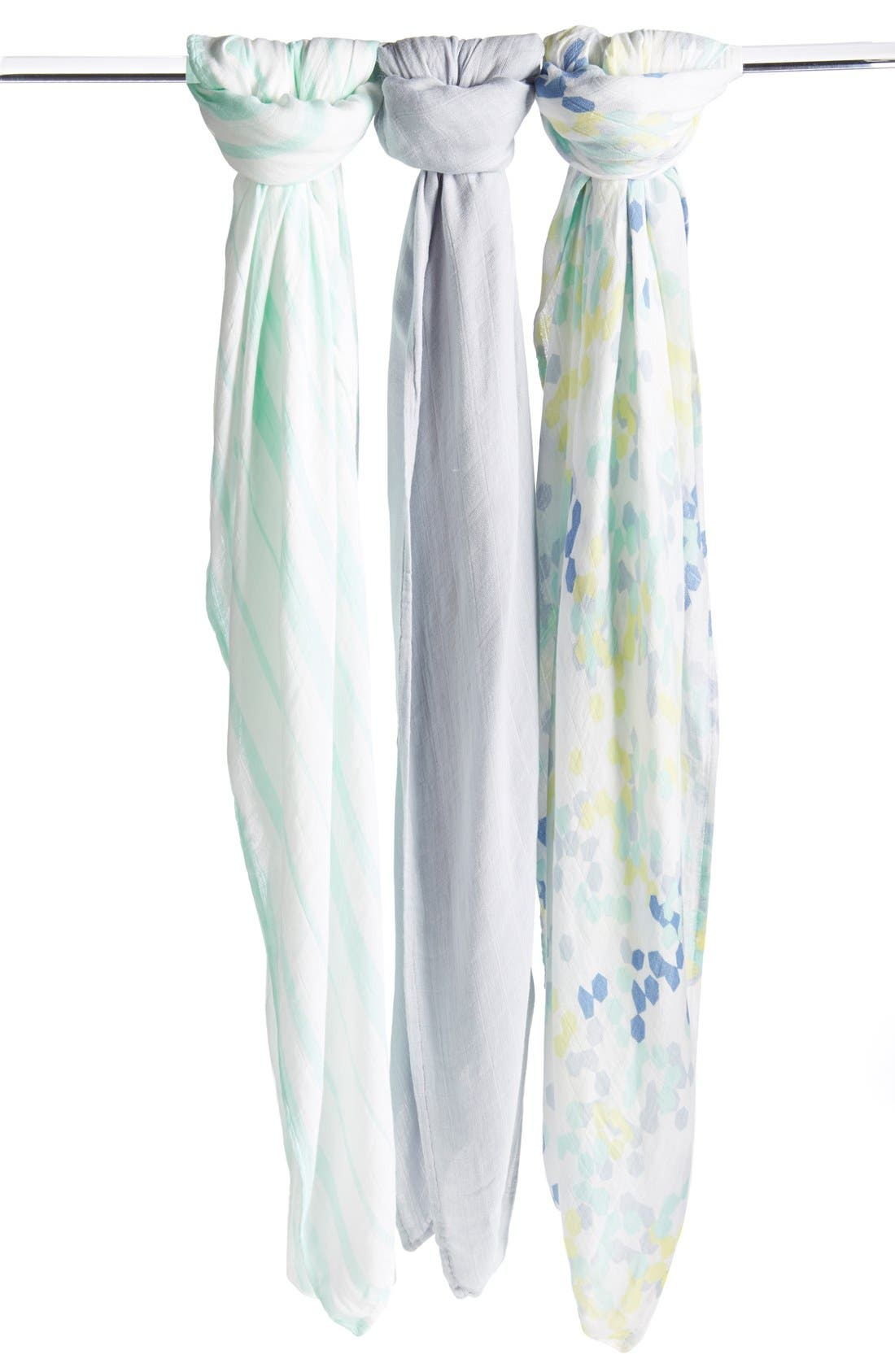Alternate Image 1 Selected - aden + anais Print Swaddling Cloths (3-Pack) (Nordstrom Exclusive)