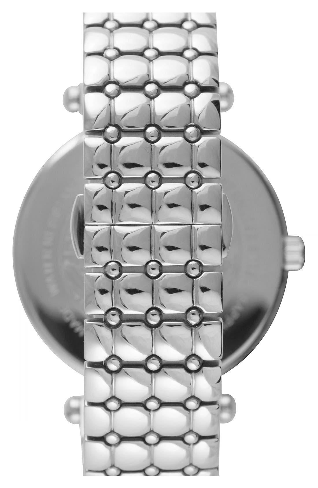 Alternate Image 2  - Versace 'Vanitas' Quilted Bracelet Watch, 40mm