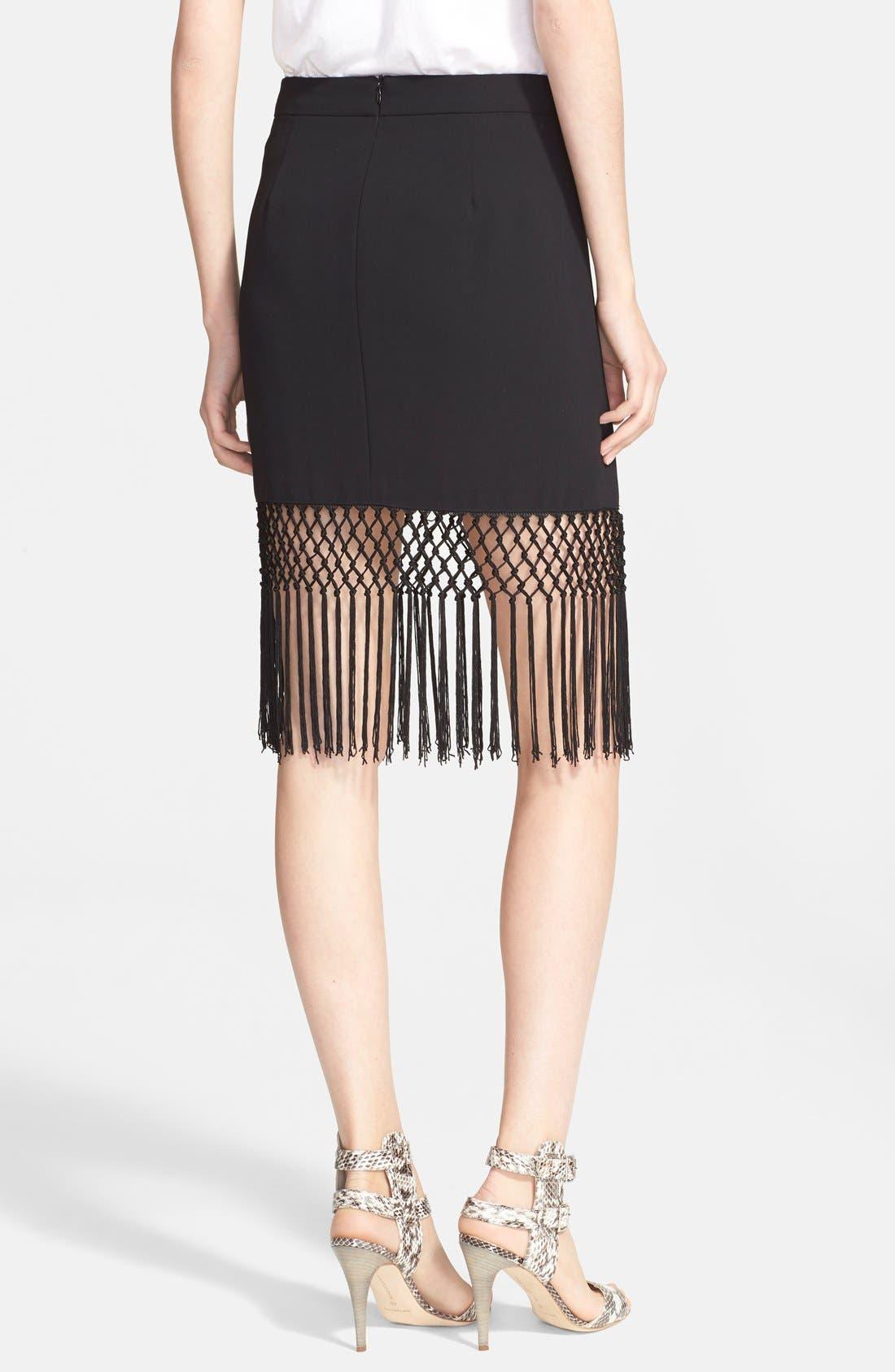 Alternate Image 2  - Trina Turk 'Luciana' Crochet Fringe Pencil Skirt