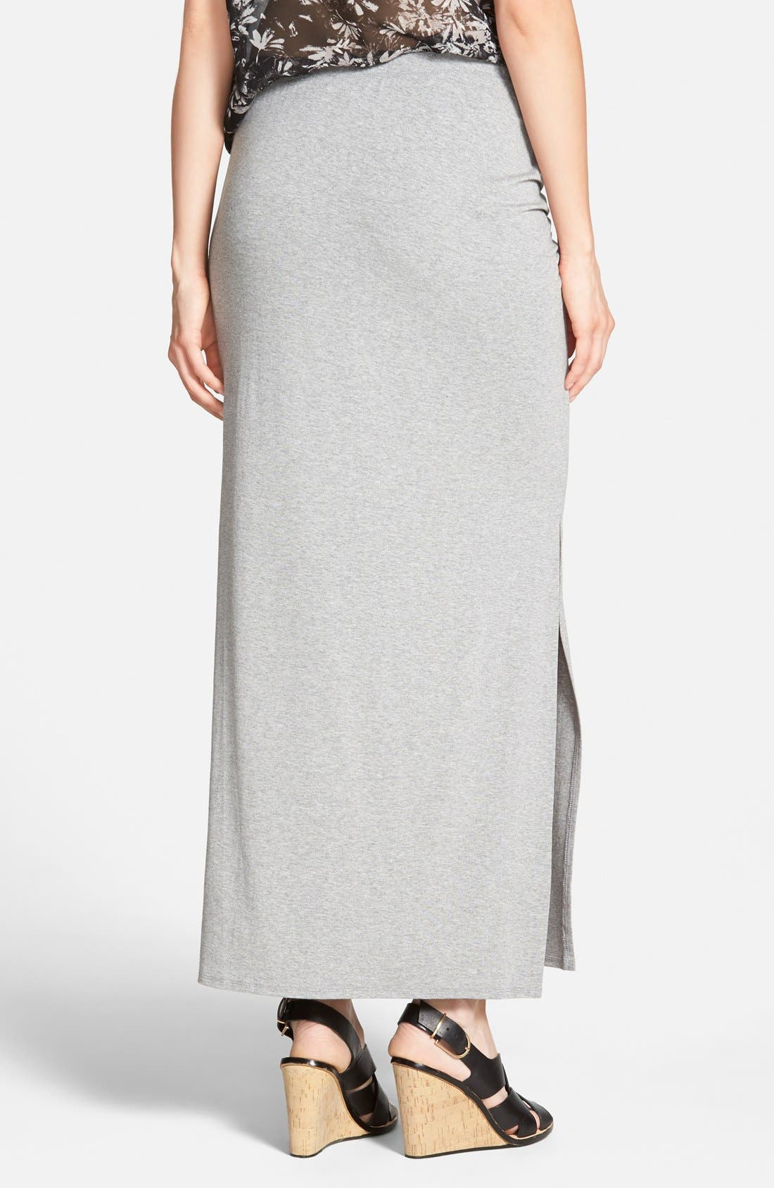 Alternate Image 2  - Vince Camuto Side Slit Maxi Skirt