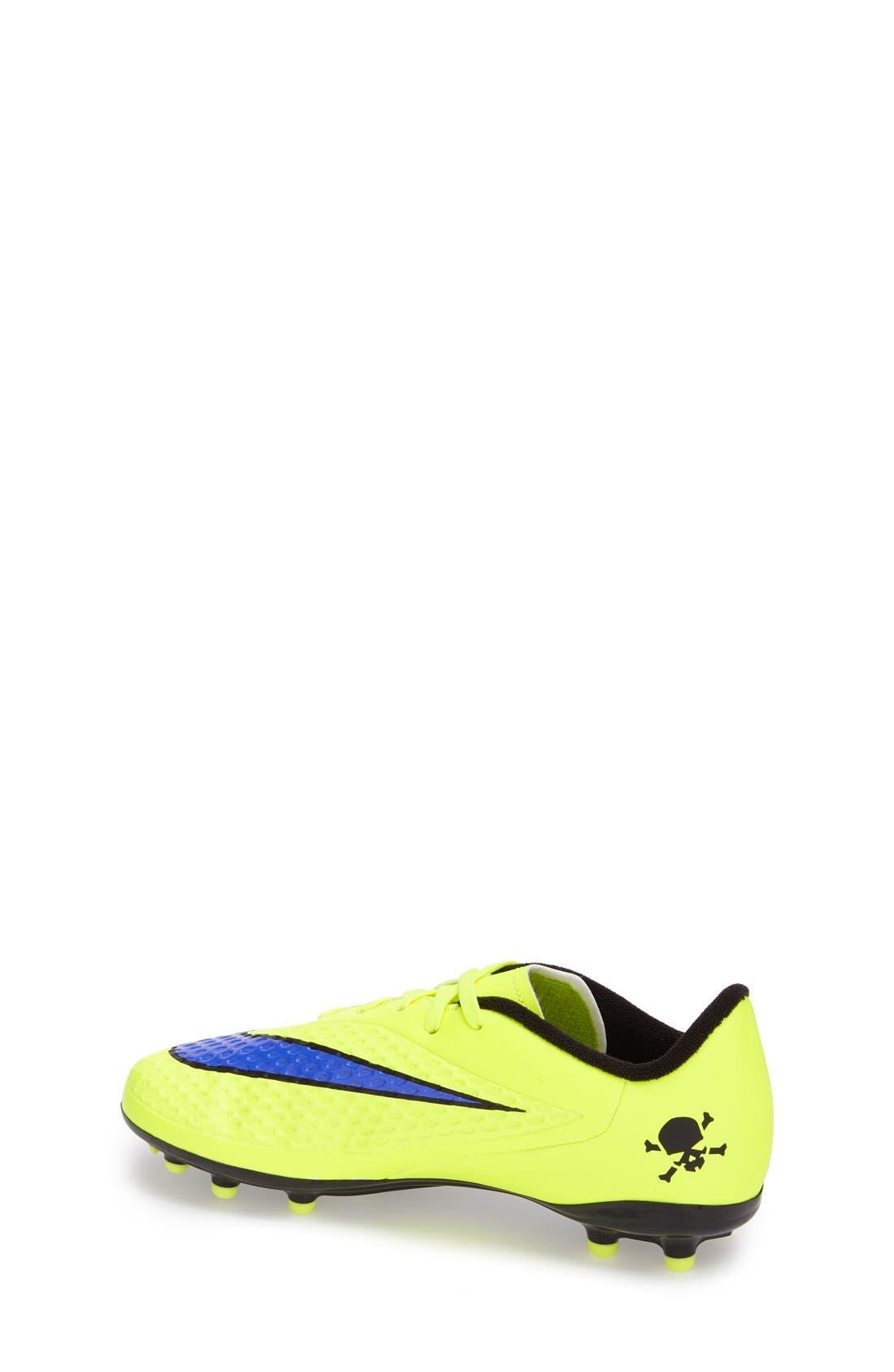 Alternate Image 2  - Nike 'Hypervenom Phelon FG' Soccer Cleat (Toddler, Little Kid & Big Kid)