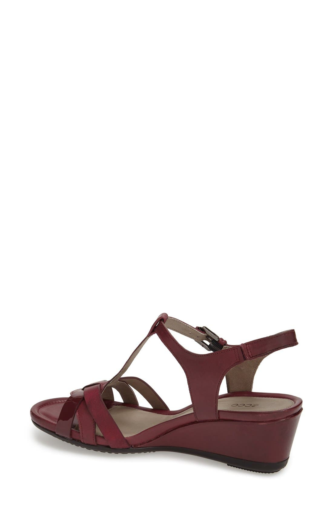 Alternate Image 2  - ECCO 'Touch 45' T-Strap Wedge Sandal (Women)