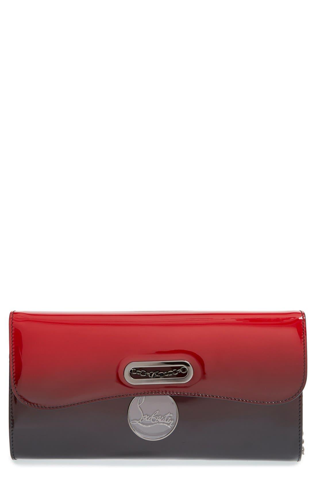 Main Image - Christian Louboutin 'Riviera' Dégradé Patent Leather Clutch